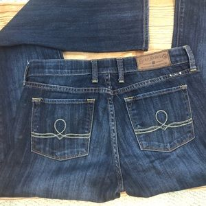 Lucky Brand Blue Jeans 6/28 Long Zip with Button